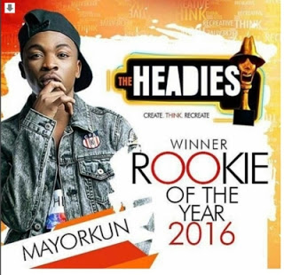headies 2016 rookie of the year award