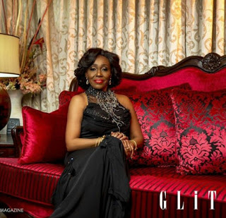 former Ghanaian First Lady, Nana Rawlings photo with glitz magazine