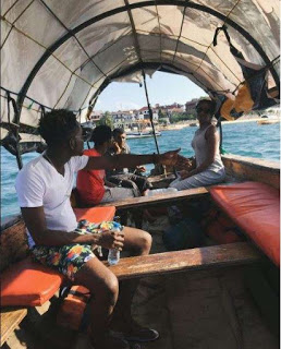 Mr Eazi on vacation in Tanzania