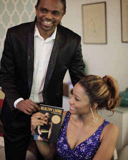 """Kanu nwankwo give support to his wife as she unveils her new book """"Healthy living with Amara Kanu"""""""