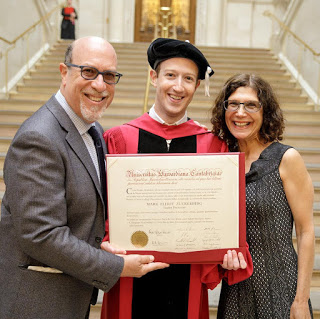 facebook ceo mark zuckerberg graduates from university after 13 years he dropped out