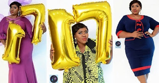plus sized nollywood actress claims she's 17 shares birthday pictures