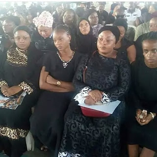 photos from the service of songs of late actress moji Olaiya