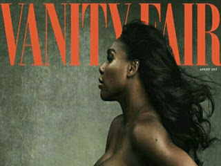 pregannt serena williams posed nude on magazine cover
