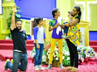 Lovely Photo Of Majid Michel's Family In Church - See Photo