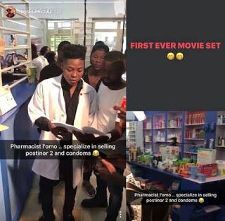 Reekado Banks makes debut in Nollywood as Pharmacist