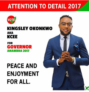 Kcee joins political race, declares to be governor of Anambra
