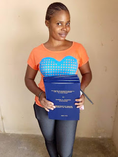 Lady graduates from University of Maiduguri as she thank God for keeping her safe from Boko Haram