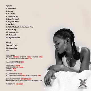 "Simi Features Only Adekunle Gold On Her Album ""Simisola"" - See Tracklist"