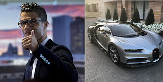 Cristiano Ronaldo Shows Off His Newly Acquired 2017 Bugatti Chiron (Photos)