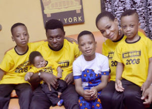 Kunle Afod and family