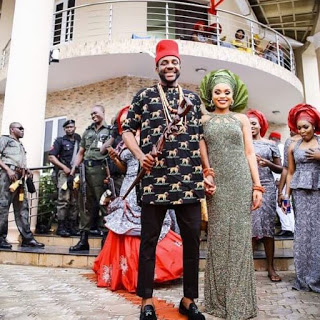 Tv Host, Ebuka Celebrates Two Years Traditional Anniversary With His Wife
