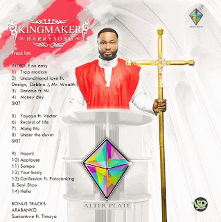 "Harrysong Unveils Artwork and Tracklist For Album ""King Maker"""