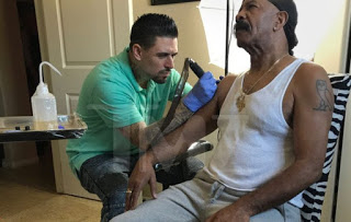 Drake's Father Dennis Graham Tattoo Son's Face On His Arm