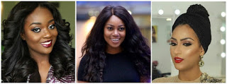 Popular Ghanaian actresses in Nollywood: Yvonne Nelson, Jackie Appiah, Juliet Ibrahim