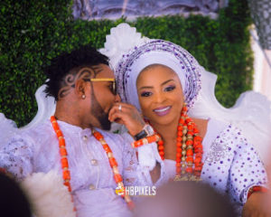 Oritse Femi wedding picture