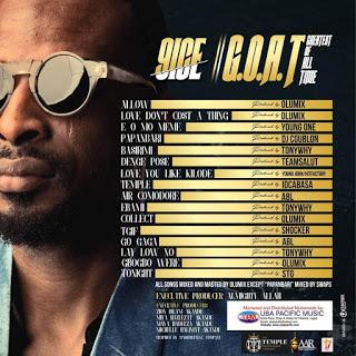 9ice G.O.A.T album tracklist