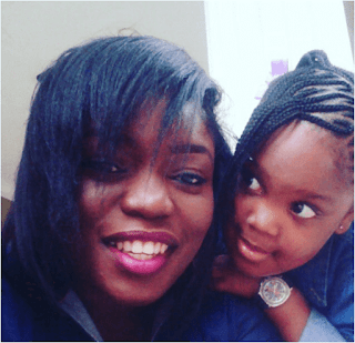 Bisola and her daughter picture