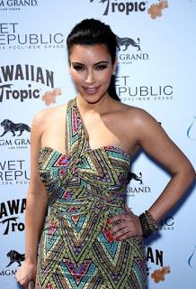 Kim Kardashian in Ankara print