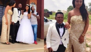 Prince Nwafor wedding pictures with Osita Iheme & Regina daniesl as the best mand and chief brides maid
