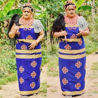 Joyce Kalu pictured on set