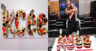 Singer, Kcee Shows Off His 38th Birthday Cake (Photos)