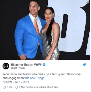 Nikki Bella & John Cena Breaks Up 3 Weeks To Their Wedding