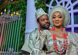 See Lovely Photos From Gabriel Afolyan's Traditional Wedding