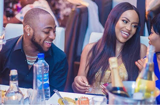 Chioma and Davido pictured at an event
