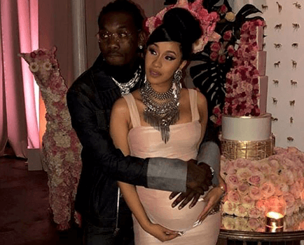 photos from Cardi and Offset Baby shower