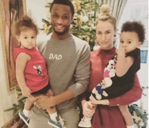 Mikel Obi and his family photos
