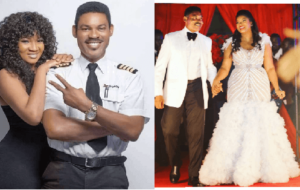 Omotola and captain mattew ekeinde wedding pictures