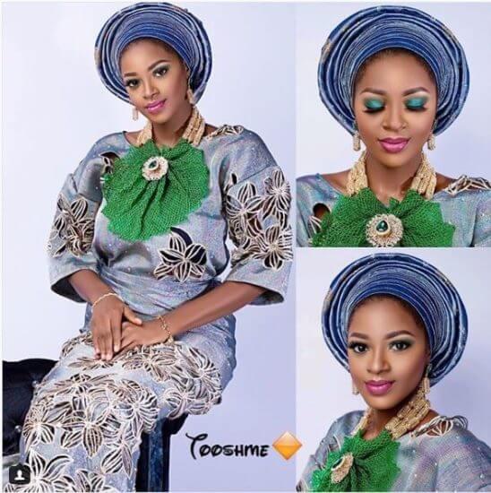 Ahneeka in bridal attire