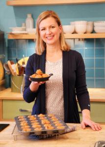 Anna Olson in the kitchen
