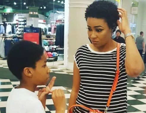 Doris Simeon Enjoys vacation with her child in US