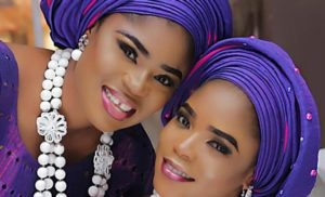 Eniola Ajao with twin sister