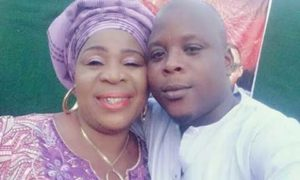 Fausat Balogun and her son