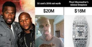 Floyd Mayweather compares 50cent net worth to his wristwatch