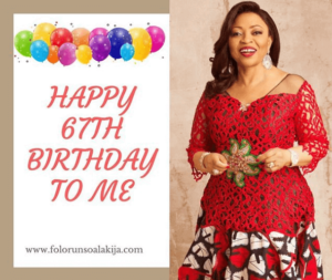 Folornsho Alakija 67th birthday