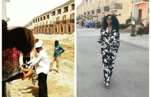 Genevieve Nnaji shares photo of new estate