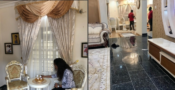 Mercy Aigbe new mansion interior