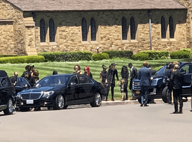 Joe Jackson's funeral photos