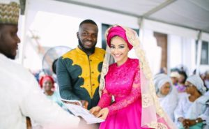 Sophie Alakija and husband wedding photo