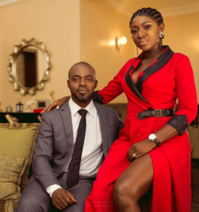 Yvonne Jegede and her husband photo