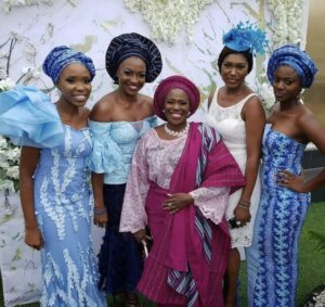 Joke Silva in son's wedding