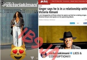 Vicctoria Kimani denies dating Lax