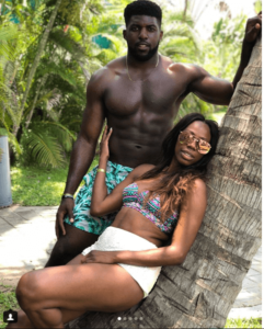 Yvonne orji and Emmanuel Ancho baecation photos