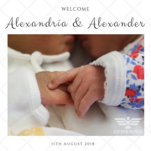Emma Nyra twins - Alexandria and Alexander