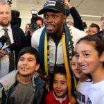 Usain Bolt arrives Australia ahead of football trial