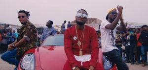Mr Real on set of issa banger music video
